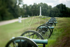Guns in memorial to the U.S. 3rd Battery, Ohio Light Artillery sit silent at Vicksburg National Military Park, September 12, 2010.
