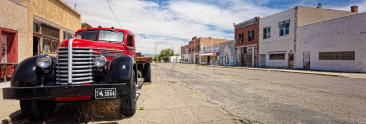 Vintage truck in an abandoned Shoshoni street.