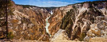 Grand Canyon of the Yellowstone and Lower Falls.