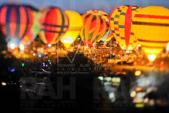 Balloons flaunt their colors during a glow at the 2008 Pennington Hot Air Balloon Championships in Baton Rouge, La. August 8, 2008.