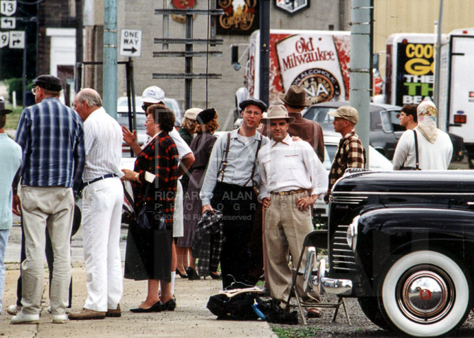That's me, center, left, during filming in Mansfield, Ohio in 1993.