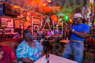 Floyd Patterson, lead singer with the One More Time Band, sings to patrons at Teddy's Juke Joint in Zachary, La. on Friday, June 20, 2014.