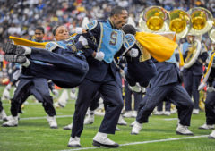 The Southern University Human Jukebox performs during halftime of the SWAC Championship on Saturday in Reliant Stadium in Houston, Texas.