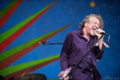 Robert Plant and the Sensational Space Shifters perform on the Samsung Galaxy Stage on Saturday April 26, 2014 at the New Orleans Jazz & Heritage Festival in New Orleans.