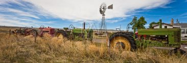 Jim Farmer's tractor collection at his home in Thermopolis, Wyo.
