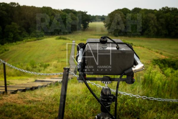 Sound recording at Poverty Point State Historic Site in north Louisiana. Photo © Richard Alan Hannon