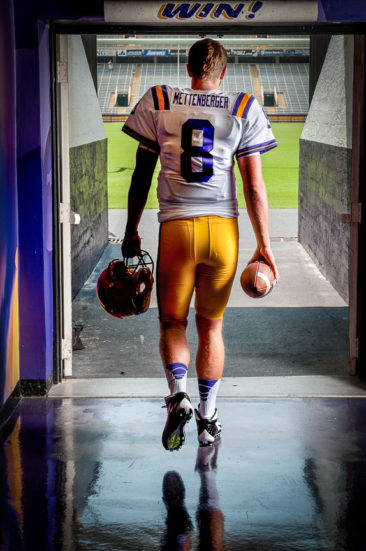 "LSU starting quarterback for the 2012 season Zach Mettenberger, a 6' 5"", 230-pound junior from Watkinsville, Ga."