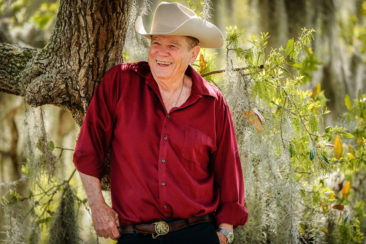 Writer James Lee Burke outside his home in New Iberia.