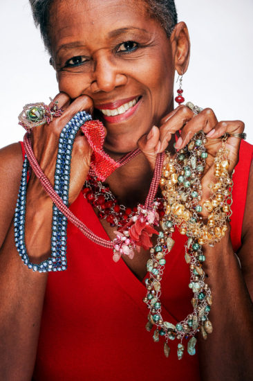 Shirley Devard and her jewelry. Devard is going with a group of Louisiana craftspeople to represent the state at a huge holiday market in France.