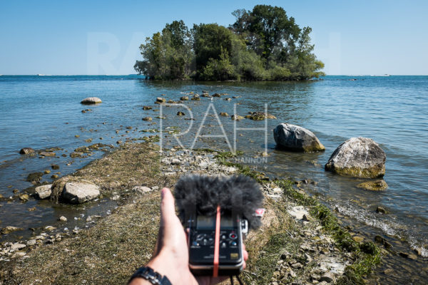 Sound recording on South Bass Island near Put-In-Bay September 5, 2016. Photo by Richard Alan Hannon