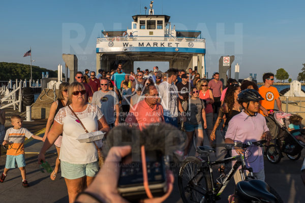 Passengers depart the Miller ferry after it completes a run from  South Bass Island to Catawba Island on September 5, 2016. Photo by Richard Alan Hannon