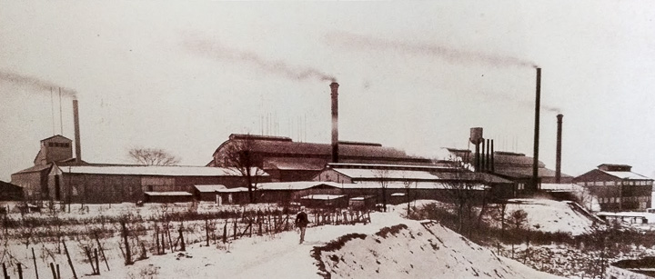 """Winter scene at Mt. Vernon's PPG Works No. 11, circa 1923. From the book """"Ariel-Foundation Park,"""" by Aaron Keirns. Photo provided by the Foundation Park Conservancy"""