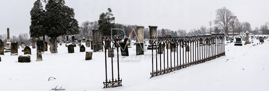Lexington, Ohio cemetery winter storm, December 13, 2016. Photo by Richard Alan Hannon