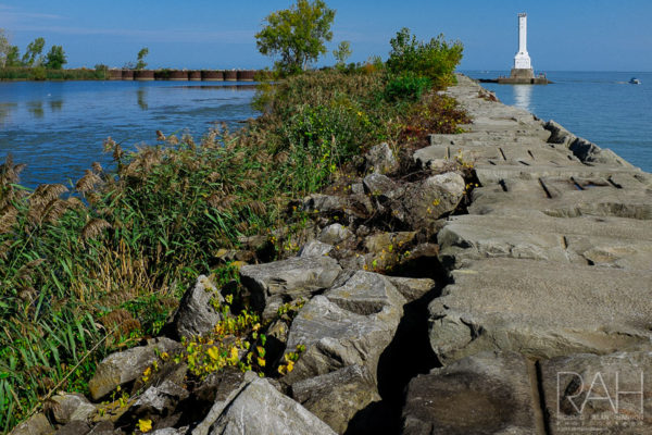 Huron, Ohio lighthouse and harbor, October 14, 2017. Photo by Richard Alan Hannon